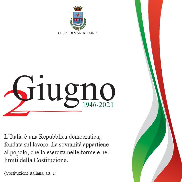 2 Giugno 2021 Festa della Repubblica Italiana